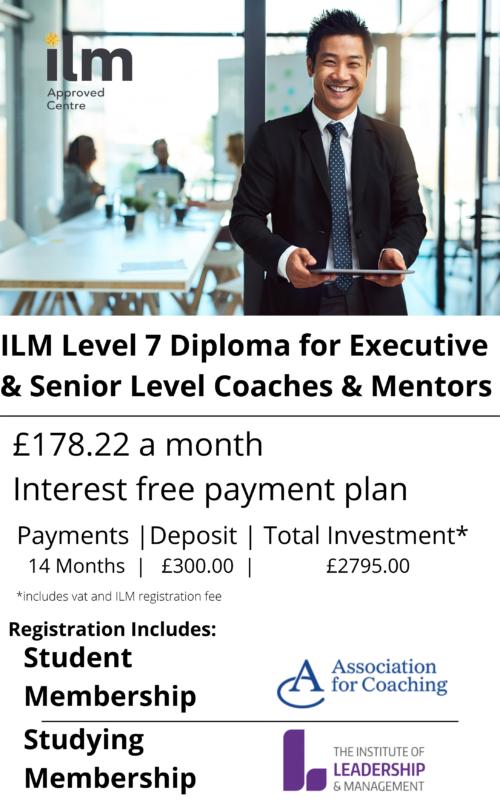 ILM Level 7 Diploma for Executive & Senior Level Coaches & Mentors